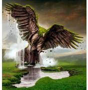 "Igor Morski: ""Earth Rising - Eagle"", komplettes Motiv mit Signatur rechts unten"