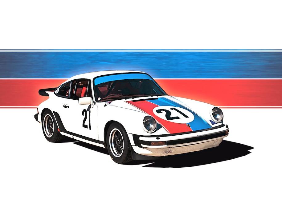 White 1976 Porsche 911 No.21