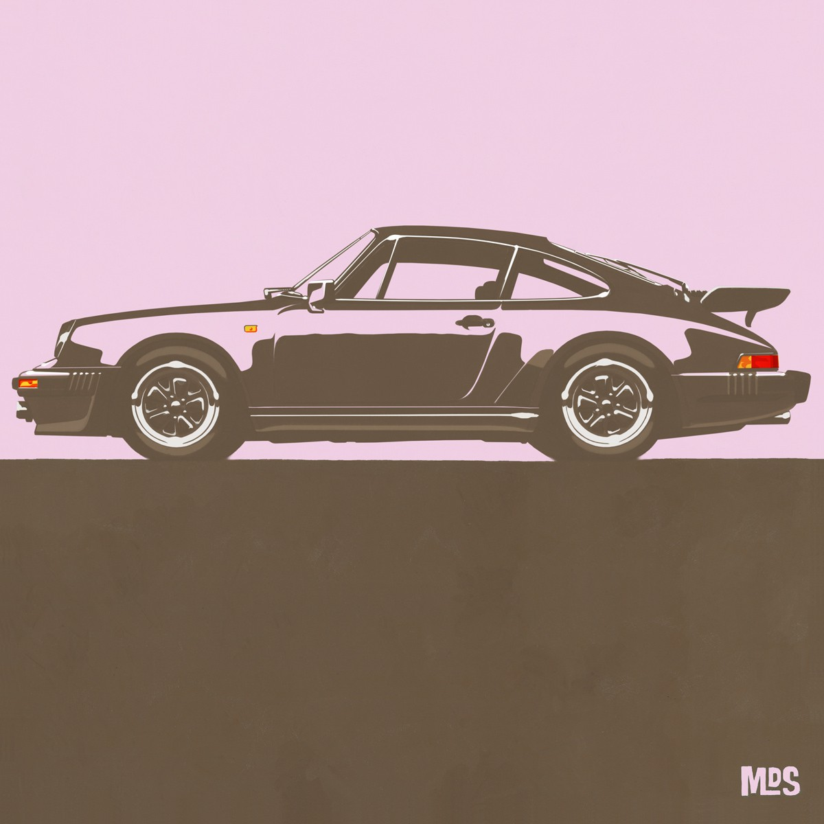 Porsche 911 Light Pink 1974 Turbo - C25 25/25