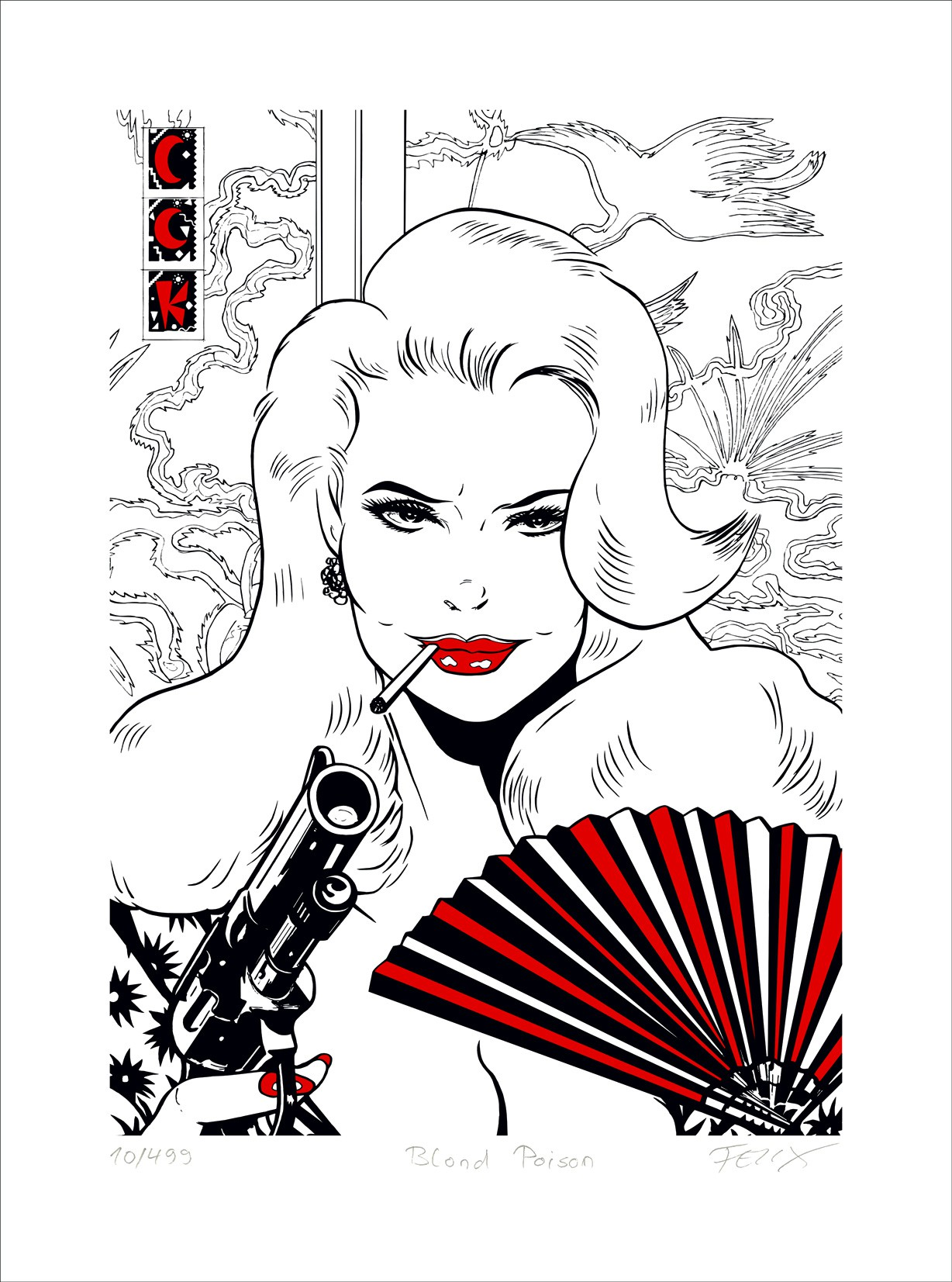 FeliX: Blond Poison. Ungerahmtes Blatt, einzeln nummeriert, betitelt und vom Künstler handsigniert.
