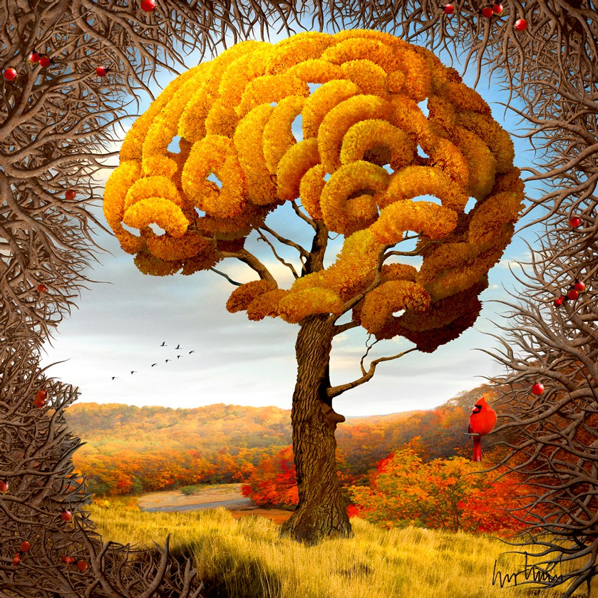 "Igor Morski: ""Four Seasons: Autumn"", komplettes Motiv mit Signatur rechts unten"