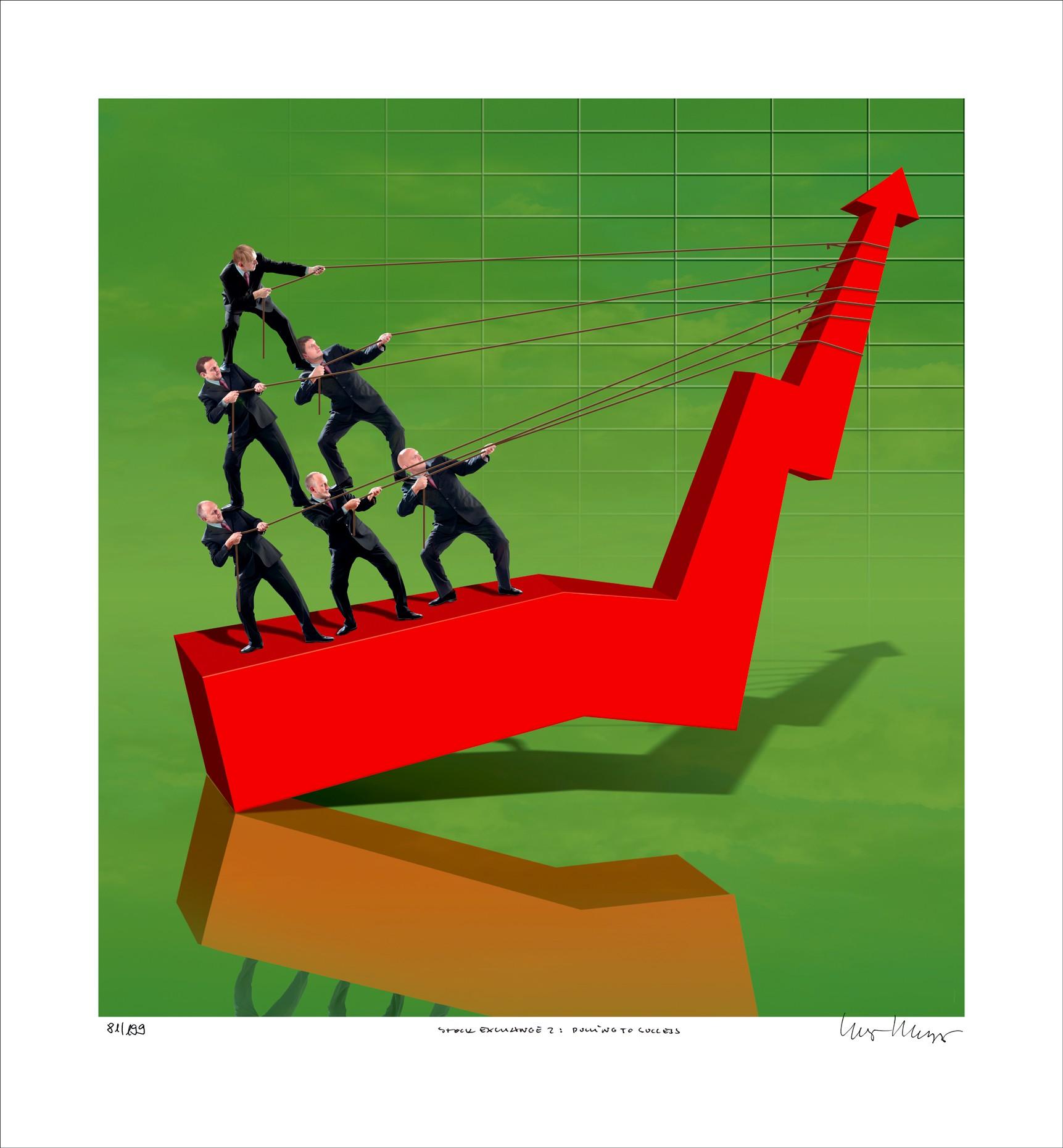"""Igor Morski: """"Stock Exchange 2: Pulling to Success"""", ungerahmtes Blatt, nummeriert, betitelt und handsigniert"""