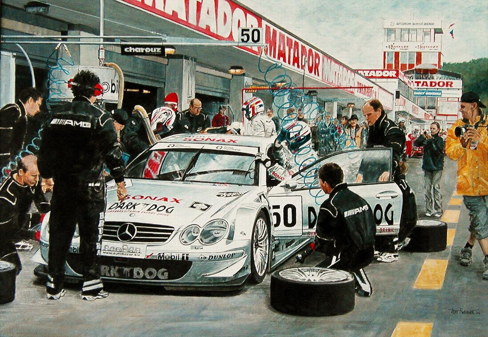 Pit Stop Mercedes-Benz CLK/DTM 2004