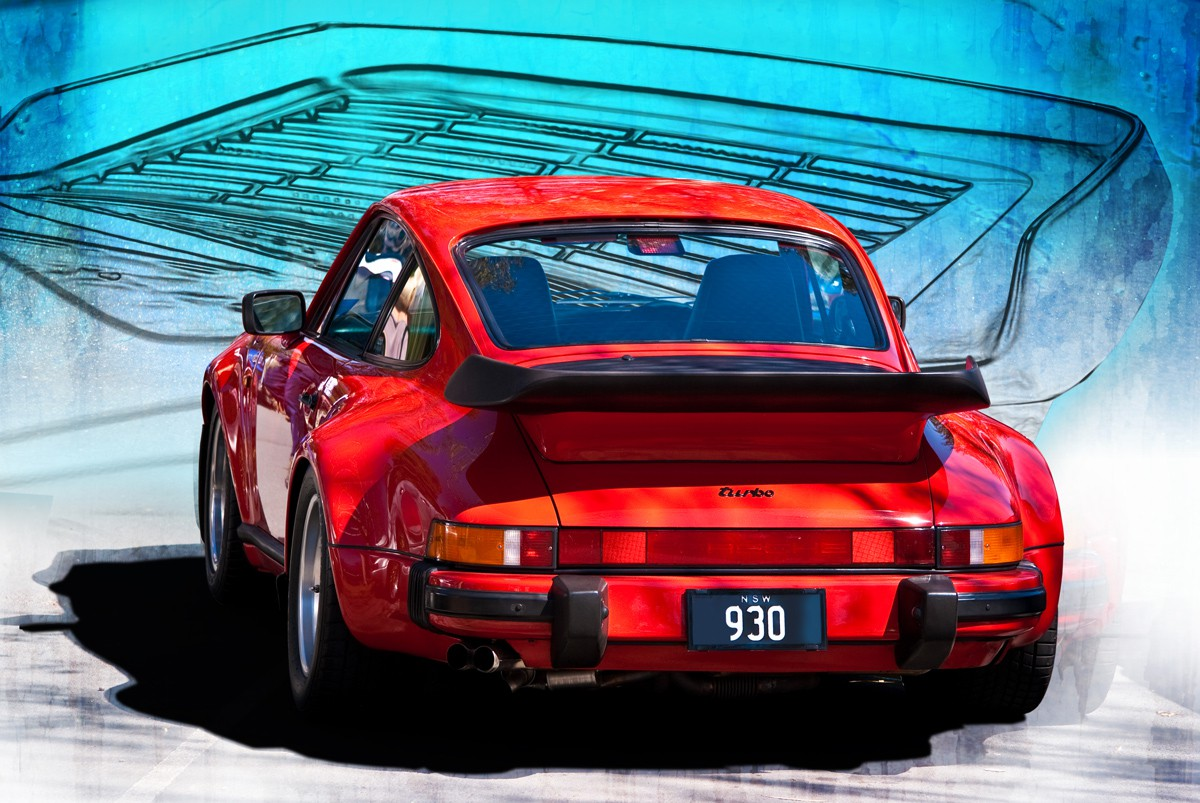Red Porsche 930 Turbo