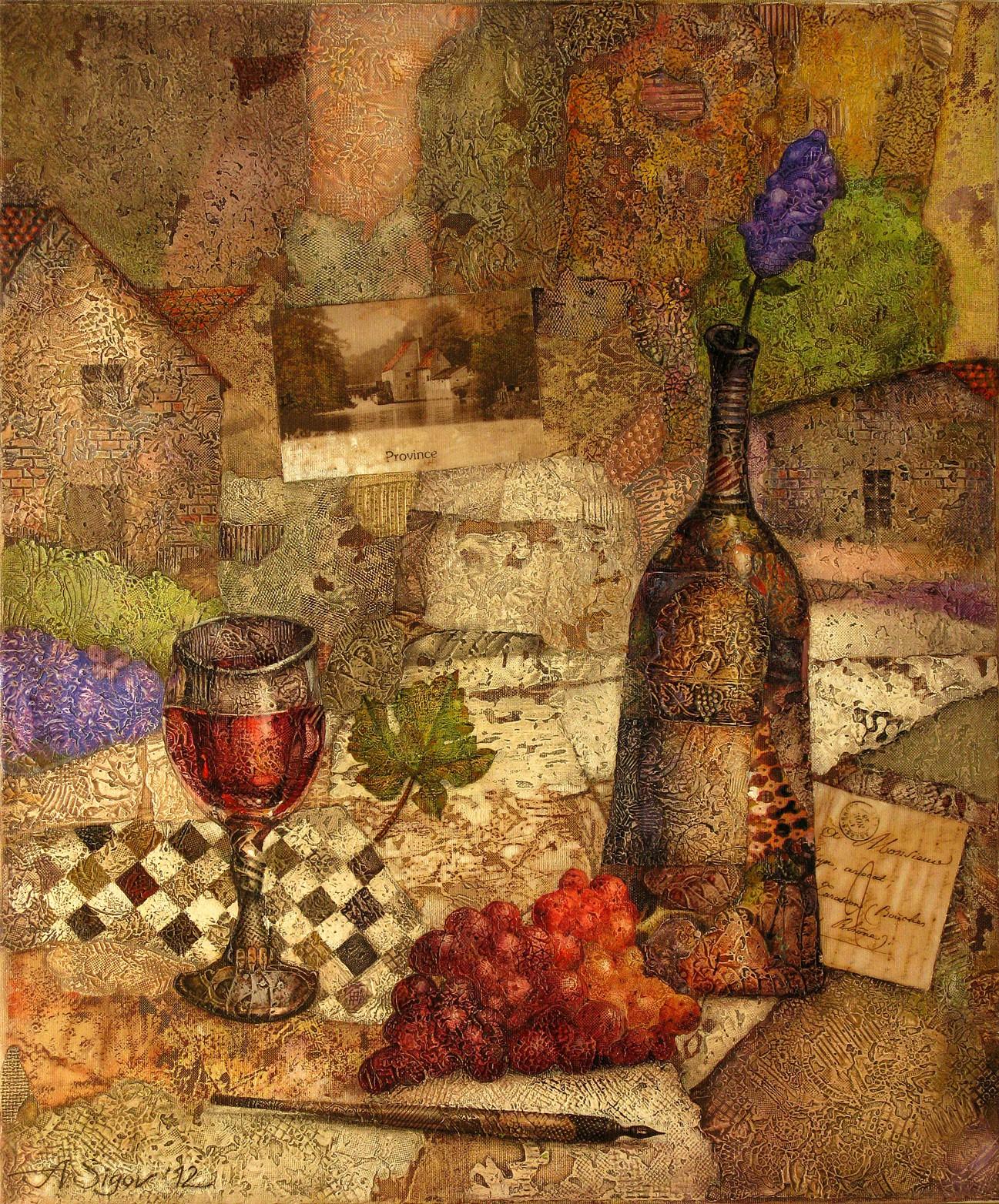 "Alexander Sigov: ""Provence"", komplettes Motiv"