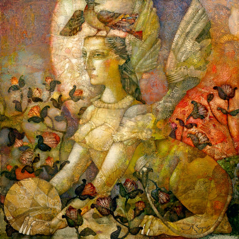 "Alexander Sigov: ""Sphinx of the Evening Moon"", komplettes Motiv"