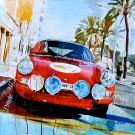 Markus Haub: Porsche 911 Carrera RS, rot. Komplettes Motiv.