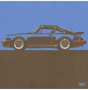 Porsche 911 Grey Blue 1974 Turbo - C03 3/25