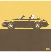 Porsche 911 Light Orange 1967 - Targa 1967 C06 6/25