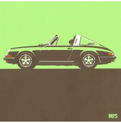 Porsche 911 Light Green 1967 - Targa 1967 C09 9/25