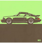 Porsche 911 Light Green 1974 Turbo - C09 9/25