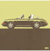 Porsche 911 Beige 1967 - Targa 1967 C16 16/25