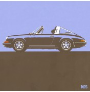 Porsche 911 Light Blue 1967 - Targa 1967 C19 19/25