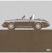 Porsche 911 Light Grey 1967 - Targa 1967 C21 21/25
