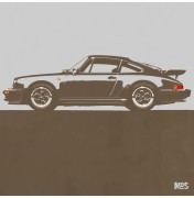 Porsche 911 Light Grey 1974 Turbo - C21 21/25