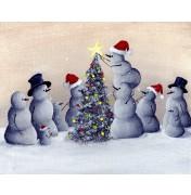 Robert Dowling: Family Christmas. Komplettes Motiv.