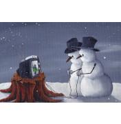 Robert Dowling: Snowman Games. Komplettes Motiv.