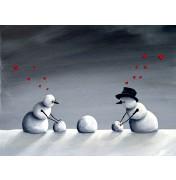 Robert Dowling: Snowman Sex. Komplettes Motiv.