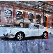 Markus Haub: Porsche 911 white. Komplettes Motiv.