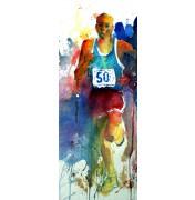 Gerard Hendriks: Runner, 2013. Original Aquarell auf Hahnemühle Bütten.