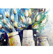 Gerard Hendriks: Tulipani Bianchi. Komplettes Motiv.