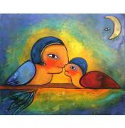 """""""Vogelfreunde""""        Original-Ölgemälde, 2009"""