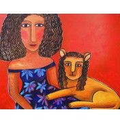 Die Löwin  -  Original-Ölgemälde, 2012