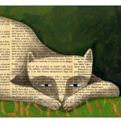 "Carlos C. Lainez: ""The Book Cat"", Detail"