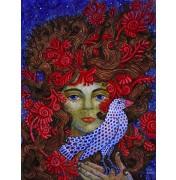 Jane Lebedeva: Original Gouache The Dove - Die Taube, 2012