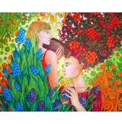 """Jane Lebedeva: Original Gouache """"Sommer und Herbst"""", 2011"""