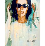 Verena Lettmayer: Calvin Klein, komplettes Motiv. Handsigniert.