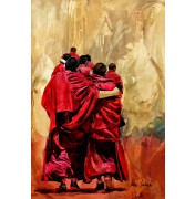 Mönche auf dem Pilgerweg