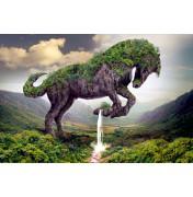 "Igor Morski: ""Earth Rising - Horse"", komplettes Motiv mit Signatur rechts unten"