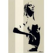 Zalez: Wait. Stencil Art auf Leinwand, limitiert und signiert