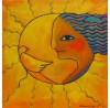 Helga Hornung: Als die Sonne zu mir sprach, Original-Ölbild