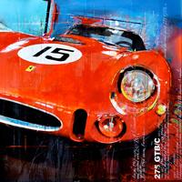 Haub Michael ferrari kunst bilder 275 GTB c classic race car junge Kuenstler