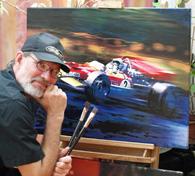 Prahl Michael vor Gemälde moderne kunst junge Künstler