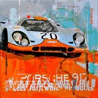 automobile kunst Haub Michael Porsche 917 Le mans classic race junge Kuenstler