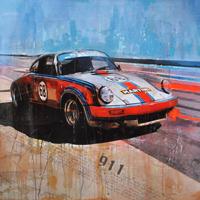 classic car kunst martini porsche 911 junge kuenstler