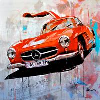 Haub Michael Mercedes Benz kunst bilder 300SL Klassik car junge Kuenstler