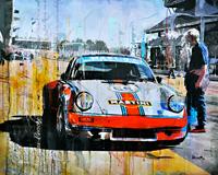 Haub Michael Porsche 911 martini classic car junge Kuenstle porsche-kunst-bilder