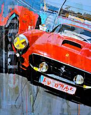 Haub Michael ferrari kunst bilder 250 classic race car junge_Kuenstler