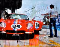 Haub Michael ferrari  kunst bilder 275 GTB classic race car junge Kuenstler