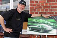 Prahl Michael vor Haus mit Gemälde moderne kunst junge Künstler