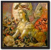 Alexander Sigov Mythologie Bild Sphinx imAbendmond