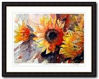 Blumen kunst kaufen von Gerard Hendriks Kunstwerk Sonnenblumen