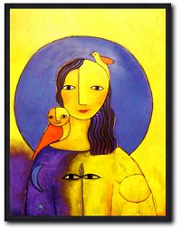 Kunstdruck Weltenfrau von Helga Hornung