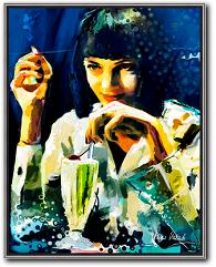 Dangerous Love Kunstwerk aus Pulp fiction kunst kaufen von MariusMarkowski
