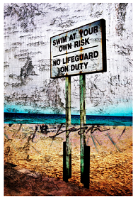 Swim at Your Own Risk von Luz Graphic Studio