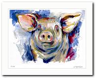 Tiere Glücksschwein von Audrey Hagemann kunst kaufen